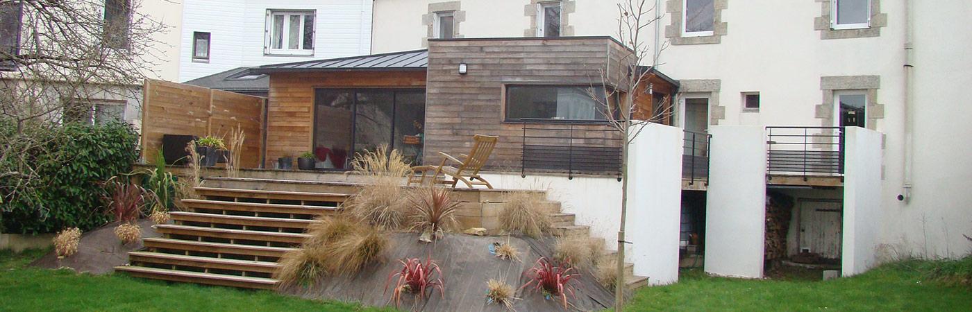Construction de maisons en bois morbihan serru habitat bois for Extension maison vannes