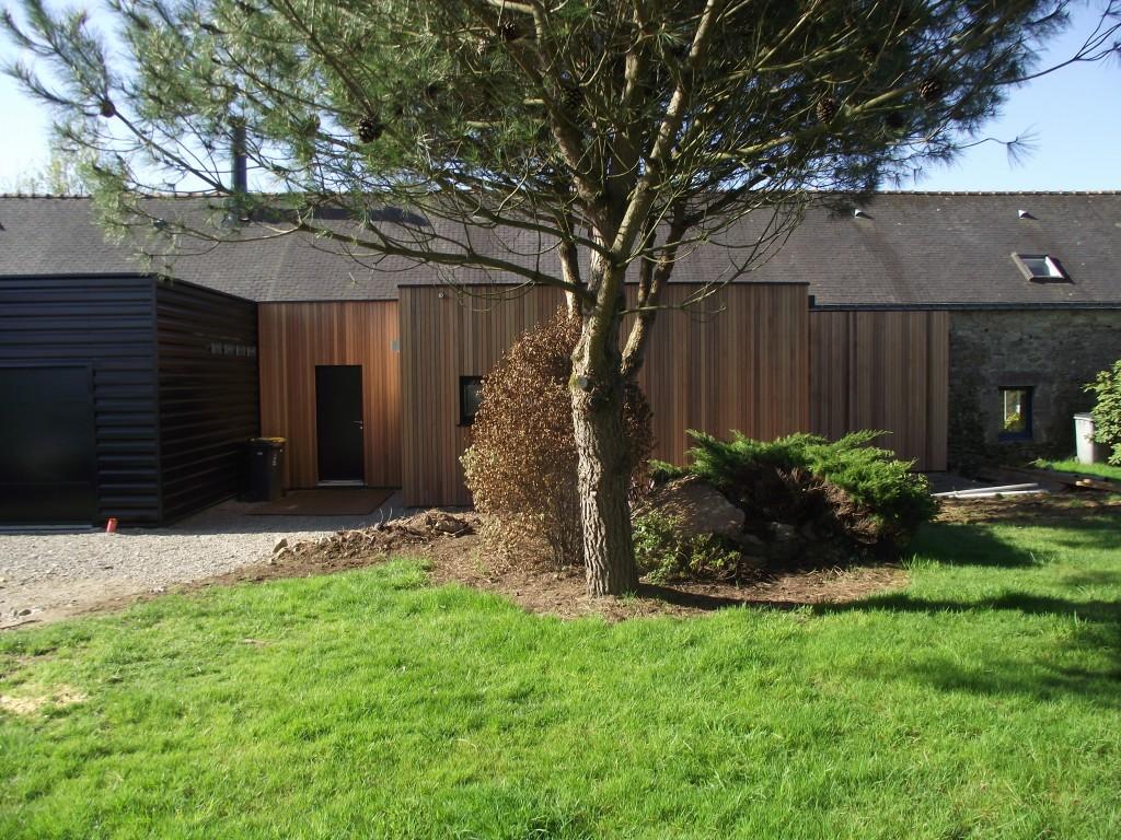 extension ossature bois plescop maison serru bois. Black Bedroom Furniture Sets. Home Design Ideas