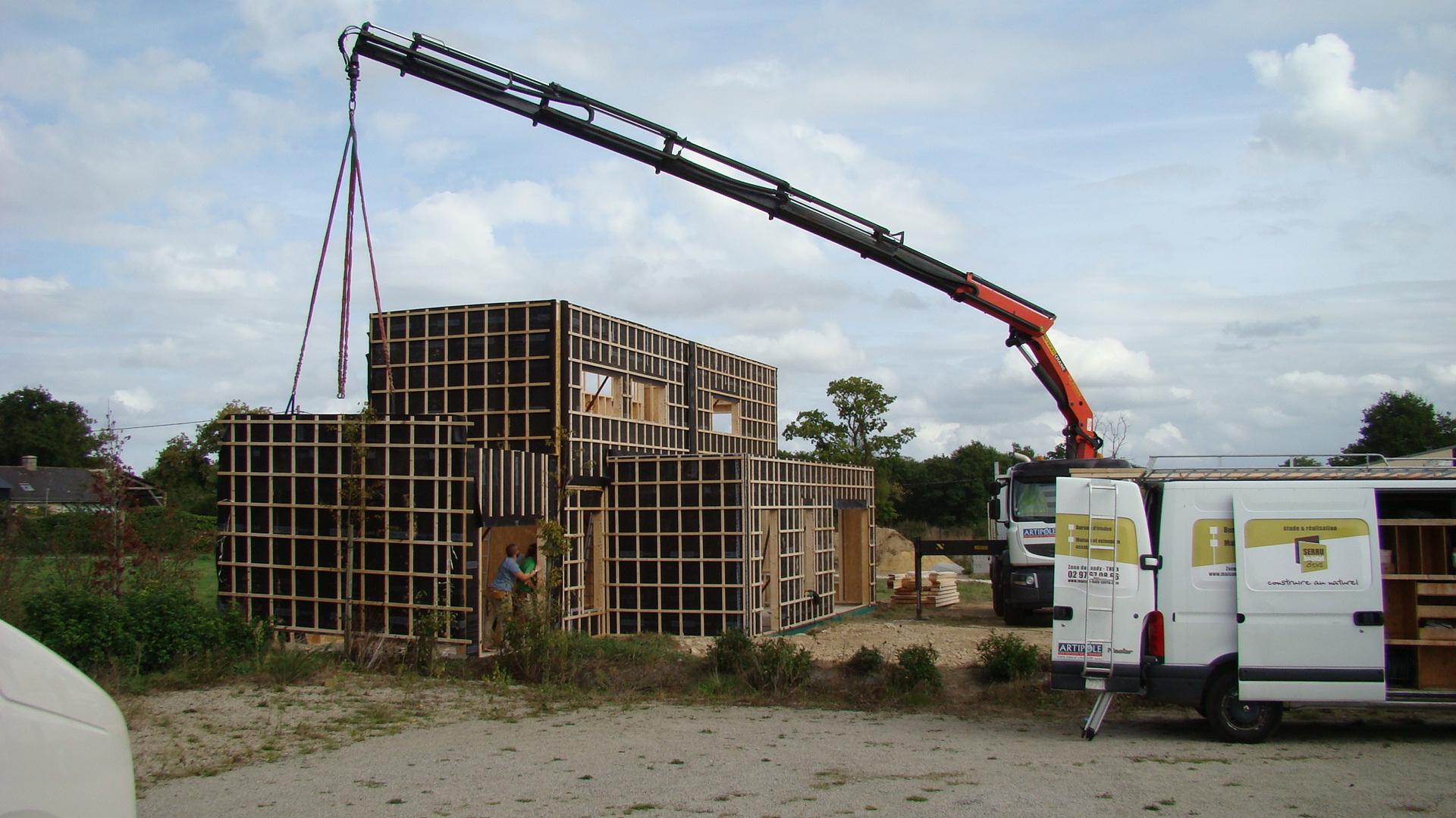 Exemples de chantiers maison serru bois for Assurance chantier construction maison