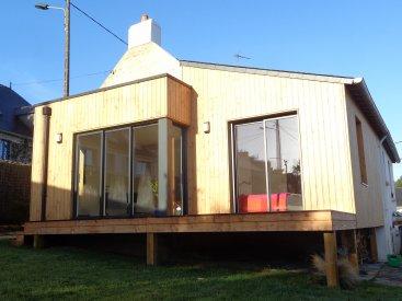 Nos r alisations de maison extension maison en bois for Extension maison hors d eau hors d air